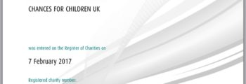 We registered as a UK charity!